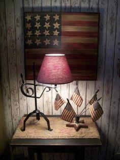 Prim Americana...love this display.