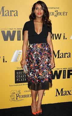 Womren in Film event Kerry Washington  Sportmax skirt