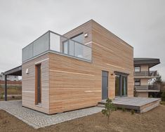 A Wooden Modular Family House Built in One Day - InteriorZine Two Story Modular Homes, Prefab Modular Homes, Norwegian House, Minimal Apartment, Minimalist Architecture, Wood Architecture, Residential Architecture, House Built, Metal Buildings