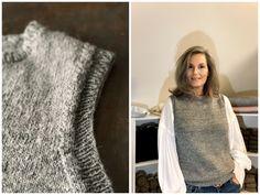Hverdagsvesten - FiftyFabulous - Lilly is Love Knitting Yarn, Knitting Patterns, Betta, Knit Vest, Outfit Combinations, Drops Design, Knitwear, Knit Crochet, Streetwear