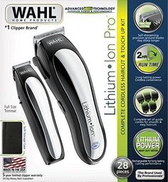 Wahl Beard Mustache Nose Eyebrow Ear Hair Trimmers Lithium Ion Cordless Clippers #Wahl