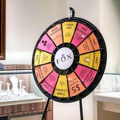 Prize Wheel, Free Admission, Small Business Saturday, Win Prizes, Spinning, Tabletop, Wheels, Fine Jewelry, Fox