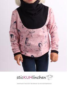 "Kleid & Shirt ""Mini-Mathilda"": http://www.kreativlaborberlin.de/schnittmuster/kleid-shirt-mini-mathilda-gr-92-164/"