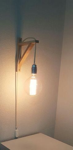 Lámpara DIY para mesilla de noche. Me ha quedado genial