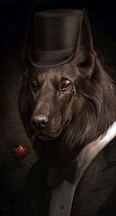 Sherlock Holmes Dog! #sherlockholmes #dog #dogwithclothes