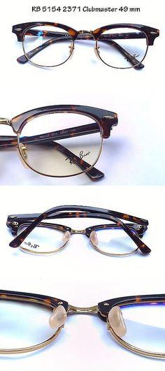 23e9214eac Eyeglass Frames  Rayban Eyeglass Frame Rb Rx 5154 2372 Clubmaster Tortoise  Frame Gold Rim 49Mm