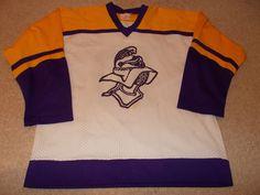 VTG-Crusaders Knights Game Worn/Used High School Minnesota Hockey Jersey  #Unbranded