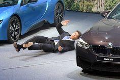 BMW CEO Harald Krueger faints on stage at Frankfurt Auto Show