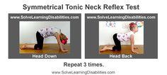 Retained Symmetrical Tonic Neck Reflex test