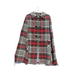 Tartan plaid vintage 1950's wool cape poncho, schoolgirl style ❤ liked on Polyvore featuring outerwear, plaid poncho cape, vintage cape coat, plaid poncho, vintage poncho and wool cape poncho