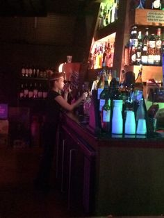 Bartenders working hard