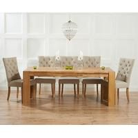 Mark Harris Tampa Solid Oak Dining Set with 6 Albury Beige Dining Chairs Dinning Table Wood, Oak Extending Dining Table, Oak Dining Room, Extendable Dining Table, Dining Set, Dining Chairs, Solid Oak Table, Home Decor Furniture, Kitchen Furniture