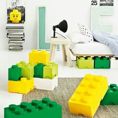 Боксы аксессуары Lego для любителей конструкторов от Room Copenhagen #decor #designinterior  #interiordesign  #interior #childrenroom #дизайнинтерьеров #интерьер #детская