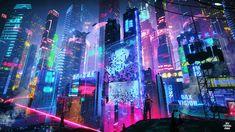 Cyberpunk Aesthetic, Cyberpunk City, Futuristic City, Macbook Wallpaper, Neon Wallpaper, Computer Wallpaper, Original Wallpaper, Desktop Background Images, Neon Backgrounds