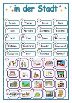 Verbs - ESL worksheet by ants Kids Math Worksheets, Free Printable Worksheets, Printables, German Grammar, German Words, German Resources, French Resources, German Language Learning, English Verbs