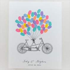 bike thumbprint guest book