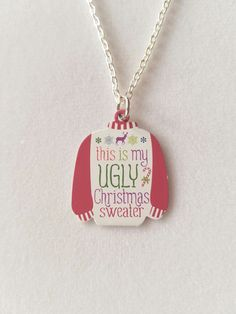 Christmas Necklace Ugly Sweater Christmas by AriesDesignsShop