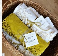 LOVE - scarves for the bridesmaids