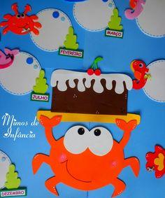 Preschool Classroom Decor, Classroom Charts, Art Classroom, Classroom Activities, Birthday Wall, Birthday Board, Diy Birthday, Diy For Kids, Crafts For Kids