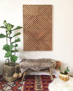 Wood Wall Art Rustic Wood Art Wood Art Geometric Wood Art