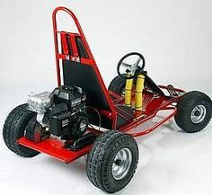 Build a go-kart using readily available parts and a lawn mower engine. This is a very simple design built with junk yard scavenged parts mostly. Remember web uilt this as kids, the dimensions would alter somewhat for bigger riders. Karting, Build A Go Kart, Diy Go Kart, Triumph Motorcycles, Motocross, Ducati, E Quad, Mopar, Kart Cross