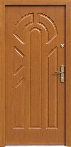 Drewniane wejściowe drzwi zewnętrzne do domu z katalogu modeli klasycznych wzór 537f1