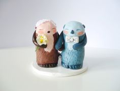 "Found your ""Otter"" half? Recently commissioned by a wonderful couple in USA, ""Otter Half"" wedding Cake Topper now available to order! https://www.etsy.com/listing/129554841/i-found-my-otter-half-wedding-cake?ref=shop_home_active"