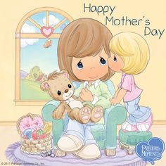 Precious Moments - Happy Mother's Day Precious Moments Quotes, Precious Moments Coloring Pages, Precious Moments Figurines, Moment Quotes, Drawing Lessons, Cute Images, Cute Pictures, I Love You Mom, My Precious