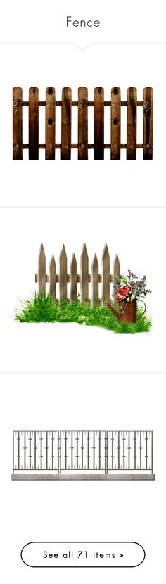 """Fence"" by suelb ❤ liked on Polyvore featuring fence, garden, architecture, brown, gate, backgrounds, flowers, scenery, detail and effect"