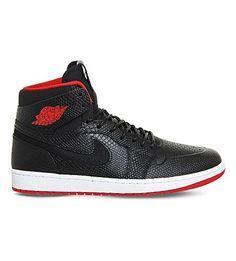 418b58ed44e96f NIKE Air Jordan 1 High Noveau Leather Trainers.  nike  shoes  trainers Red