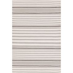 Dash And Albert Rugs Indoor Outdoor Beckham Platinum Brown White Striped Area Rug
