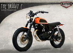 Suzuki Thunder 250 Brat Style by The Katros #motorcycles #bratstyle #motos | caferacerpasion.com