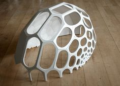 –CNC milled prototype of a spaceplates ideas architecture masterpiece System Architecture, Architecture Images, Installation Architecture, Parametric Architecture, Installation Art, Dome Structure, Organic Structure, Geodesic Dome Homes, Home Greenhouse
