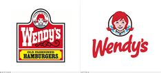 Wendy's Logo, Before and After