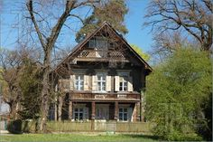 Wooden House in the Russian colony Alexandrowka, Potsdam Germany