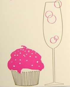 Cupcakes and champagne? We think this is the perfect inspiration for a girls night in!