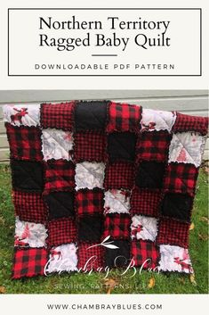 Northern Territory Ragged Baby Quilt Pattern - Digital Download (PDF)    #chambrayblues #stylebluespodcast #styleblues #chambraybluesblog #sewing #sewingblogger #diysewing #handmade #pattern #sewinginspiration #fabriclove #indiesewing #sewingpattern #sewingforbeginners #beginnersewing #learntosew #howtosew #sewingproject #diyclothes #easysewingproject #sewingtips #sewinghacks Diy Baby Quilting, Baby Quilts, Quilting Ideas, Plus Size Sewing Patterns, Pattern Sewing, Rag Quilt Patterns, Crochet Patterns, Flannel Rag Quilts, History Of Quilting