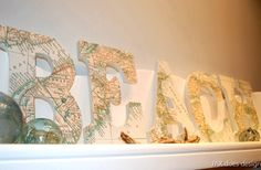 Top 10 Ideas for Decorative Letters with a Beach