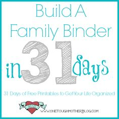 One Tough Mother: Build a Family Binder in 31 Days - Blog Series Announcement