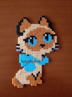 """Gato Siamés (from <a href=""""http://hama.piojillo.es/picture.php?/166/tags/7-animales"""">Las cosas de Hama de Ana y Santi</a>)"""