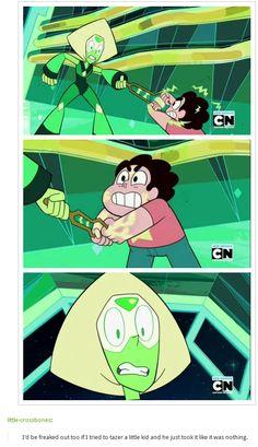 Steven fights Peridot
