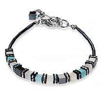 Cube and Hematite Bracelet, 4536B, Coeur De Lion Jewelry, Blue