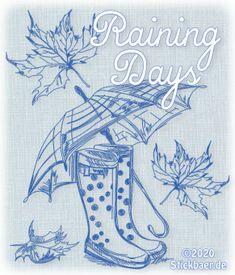 Der Stickbär | Raining Days | Stickmuster mit Herz Rain Days, Home Decor, Stitching Patterns, Dance, Random Stuff, Embroidery, Heart, Homemade Home Decor, Rainy Days