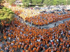 A sea of Orange on a fall Saturday in Knoxville