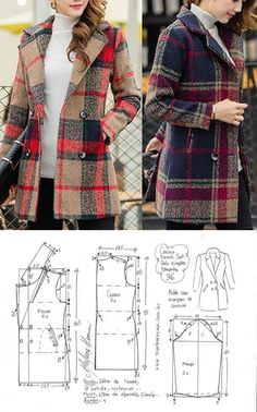 Sewing Patterns - Coat Patterns - Jacket Patterns - Bolero Pattern - Skirt Patterns - Blazer Pattern - Sewing Tutorials - Sewing E-book Coat Pattern Sewing, Blazer Pattern, Sewing Coat, Coat Patterns, Dress Sewing Patterns, Jacket Pattern, Sewing Clothes, Clothing Patterns, Diy Clothes