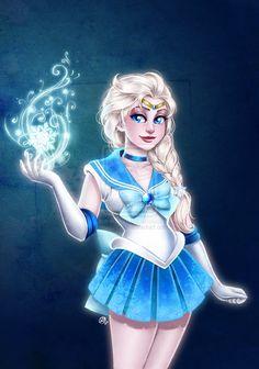 "Sailor Frozen by Roots-Love.deviantart.com on @deviantART - Crossover between ""Frozen"" and ""Sailor Moon"""