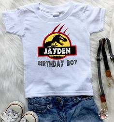 Jurassic Park Birthday Boy ,Dinosaur Birthday Shirt, Birthday Girl T-Rex Shirt, Custom Birthday Tees, Personalized Shirt for Family B161 Description: With this shirts the party will be more fun*))) This design is designed for direct printing on the T-Shirt. Not an iron-on or heat transfer.