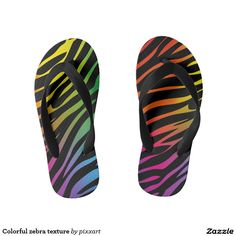 Colorful zebra texture