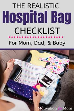 This article is the ultimate hospital bag checklist! It goes over everything for a hospital bag for mom to be, hospital bag for baby, and what dad should pack in his bag. It also has a list of what not to pack in your hosptial bag. Packing your bag for labor and delivery is one of the last steps in preparing for baby, and you'll want to make sure you have everything you'll need for the baby. #hospitalbagchecklist #hospitalbagformomtobe #hospitalbagforbaby #whattopackinhospitalbag Hospital Bag For Mom To Be, Pregnancy Planner, Hospital Bag Checklist, Nursing Tank, Preparing For Baby, Mom Advice, Baby Hacks, New Moms, Baby Car Seats