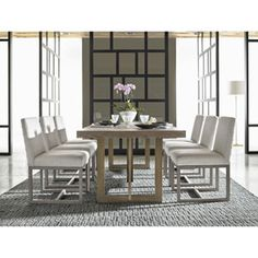 Universal Furniture 642755 Jamison Dining Table in Charcoal, Contemporary & Modern Large Furniture, Dining Furniture, Dining Room Table, Modern Furniture, Outdoor Furniture Sets, Dining Chairs, Dining Table Sizes, Metal Dining Table, Kitchen Tables